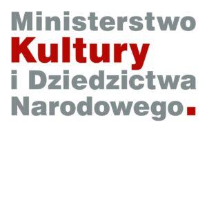 """Napis """"Ministerstwo Kultury iDziedzictwa Narodowego"""". Wszystkie słowa napisane są naszaro, tylko """"Kultury"""" naczerwono."""